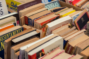 book sale table